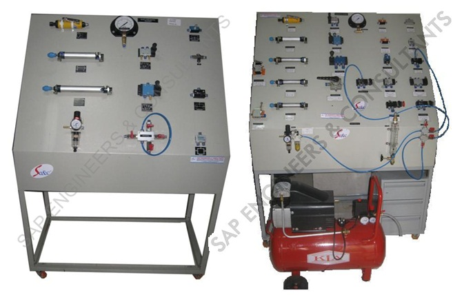 Pneumatic trainer kit price | plc based electro pneumatic trainer