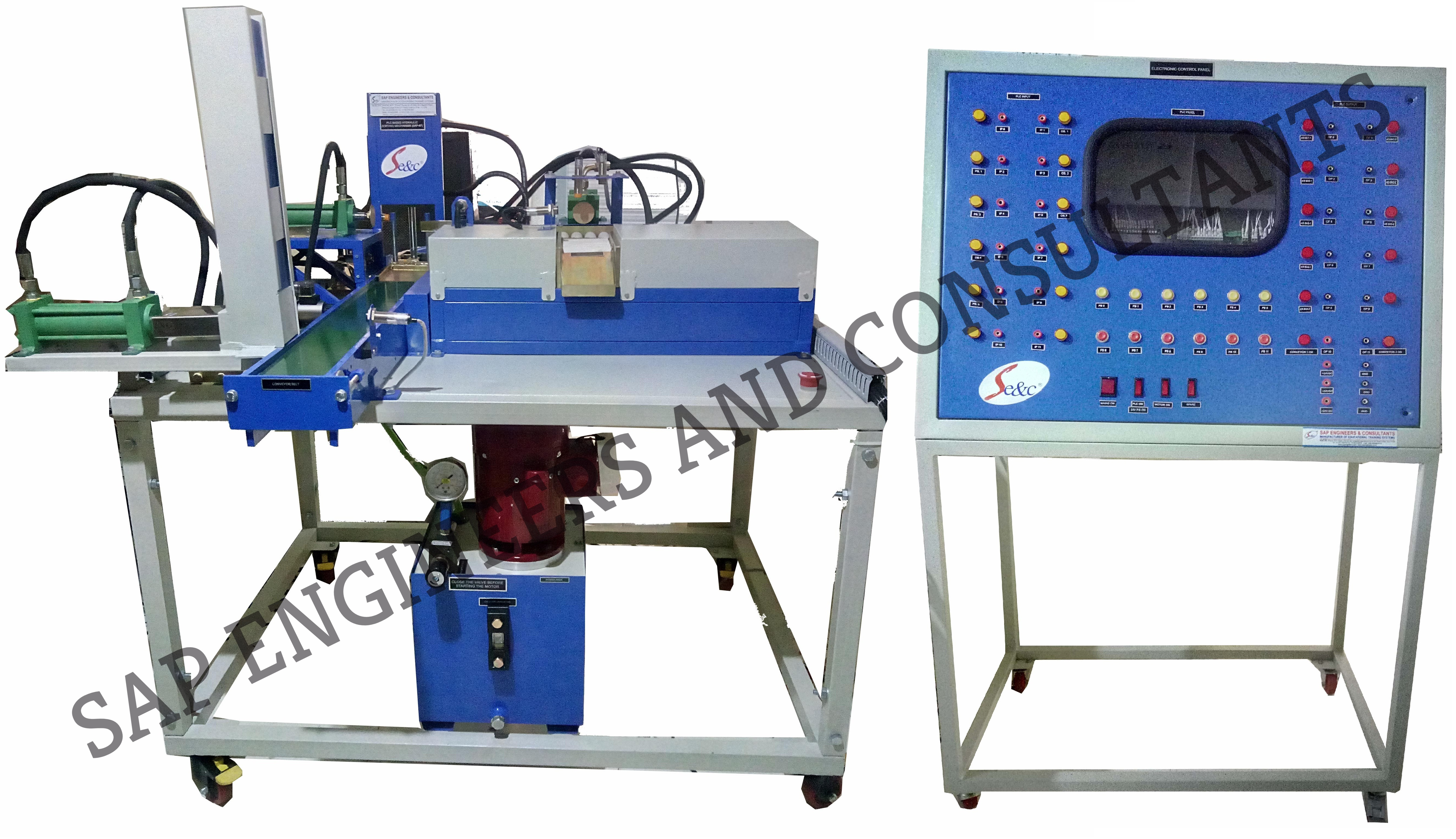 PLC Based Electro Hydraulic Sorting Mechanism